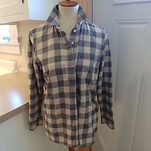 MADEWELL Black White Buffalo Plaid Flannel Shirt